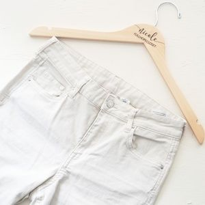 H&M & Denim White Skinny Coupe Jeans Mid Rise